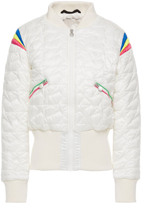 Perfect Moment Glacier Quilted Color-block Shell Down Jacket