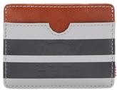 Charlie Striped Leather Card Holder
