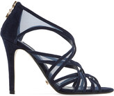 Dune Media suede and mesh caged sandals