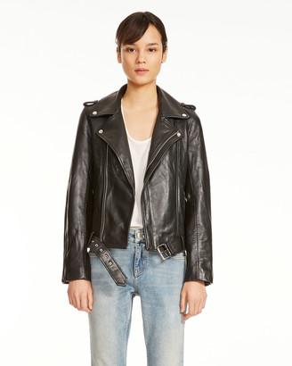 Maje Bocelix Leather Jacket