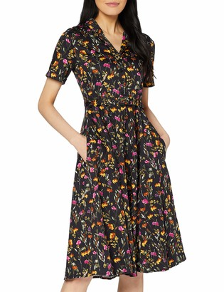 Joe Browns Women's Floral Shirt Dress Black (Black Multi (Size:12)