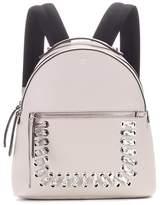 Fendi Snakeskin-trimmed leather backpack
