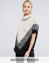 Mama Licious Mama.licious Mamalicious High Neck Knitted Jumper