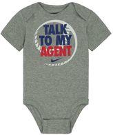 "Nike Baby Boy Talk To My Agent"" Graphic Bodysuit"