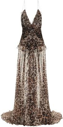 Etro Leopard-print silk crepe de chine gown