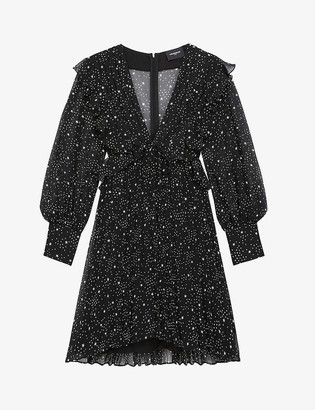 The Kooples Star-print chiffon dress