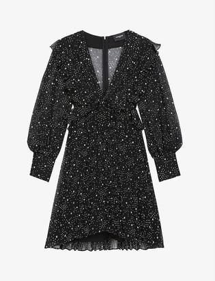 The Kooples Star-print chiffon dress