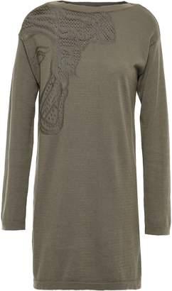 Versace Pointelle-knit Cotton-blend Sweater