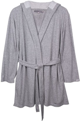 Pretty You London Organic Cotton Robe In Grey