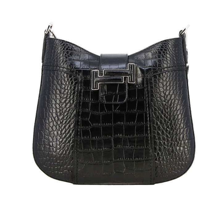 Tod's Tods Crossbody Bags Dot Hobo Tods Small Shoulder Bag In Crocodile Print Leather