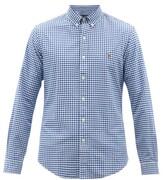 Polo Ralph Lauren Logo-embroidered Gingham Cotton Shirt - Mens - Blue Multi