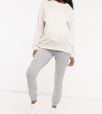 ASOS DESIGN Maternity supersoft slim leg sweatpants in gray marl