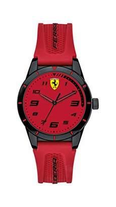 Ferrari Boy's Rev Quartz TR90 and Silicone Strap Casual Watch