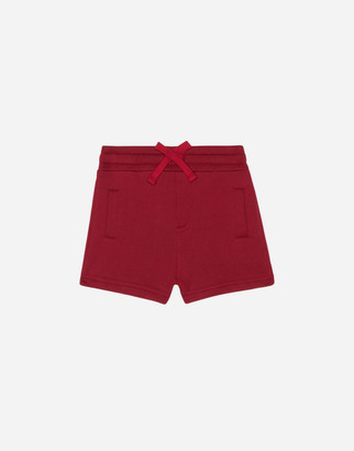 Dolce & Gabbana Jersey Bermuda Jogging Shorts With Logoed Plaque