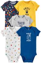 Carter's Baby Boy 5-pack Food Graphic Bodysuits