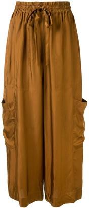 Lee Mathews Rommie cropped wide-leg trousers