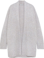 Vince Wool, Cashmere And Silk-blend Cardigan - Gray