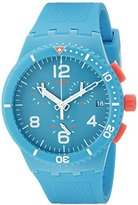 Swatch Unisex SUSN406 Patmos Analog Display Quartz Blue Watch