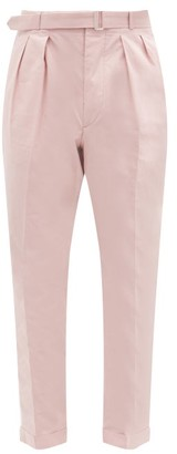 Officine Generale Pierre Cotton-poplin Tapered Trousers - Pink