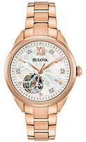 Bulova Women's Rosetone Automatic Movement Watch