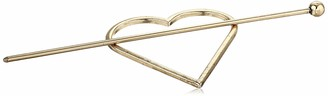 Steve Madden Women's Heart Shaped Yellow Gold-Tone Hair Pin