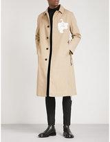 Neil Barrett Face-print cotton-blend trench coat