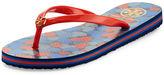 Tory Burch Classic Striped-Edge Thong Sandal