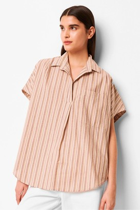 French Connection Verve Stripe Popover Sleeveless Shirt