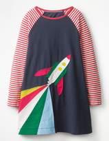 Boden Rocket Appliqué Dress