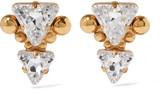 Elizabeth Cole Addis gold-plated Swarovski crystal earrings