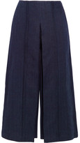 Zeus+Dione - Pleiades Pleated Linen-chambray Culottes - Navy