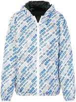 Adidas Originals By Alexander Wang reversible logo print padded jacket