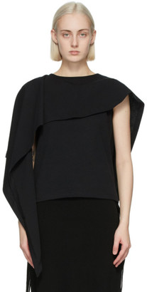 J.W.Anderson Black Draped Sleeveless Top