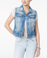 Jessica Simpson Pixie Cotton Ripped Denim Vest