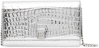 Burberry Embossed Detachable Strap Wallet