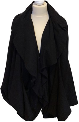 Lanvin Black Wool Coat for Women Vintage