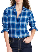 Lauren Ralph Lauren Petite Plaid Cotton Twill Shirt