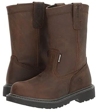 Wolverine Floorhand 10 Steel Toe (Dark Brown) Women's Work Lace-up Boots