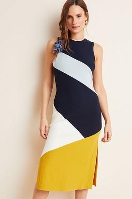 Hutch Lena Colourblocked Knit Midi Dress