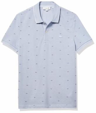 Lacoste Men's Short Sleeve Slim Fit All Over Mini Croc Pique Polo Shirt