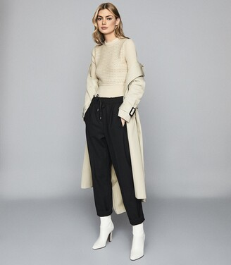 Reiss Jenna - Chunky Ribbed Jumper in Cream