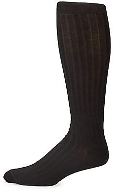 Saks Fifth Avenue Rib-Knit Knee-High Socks