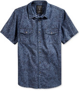 GUESS Men's Short-Sleeve Chambray Shirt