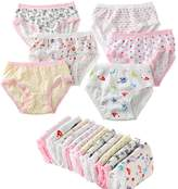 CHUNG Toddlers Little Girls Cotton Briefs Underwear Panty 6 Pack 2-7Y, Assorted, 2T