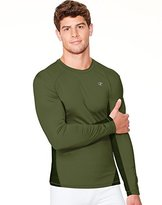 Champion Men's Powertrain Long Sleeve Raglan T-shirt, Granite Heather/Black, Medium