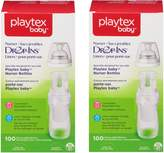 Playtex Drop-Ins Bottle Liners for Nurser Bottles, 8 oz, 100 ct