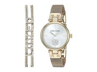 Anne Klein Gold-Tone Watch and Bracelet Set