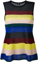 Paul Smith stripe flared top - women - Cotton - L