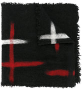 Faliero Sarti brush stroke scarf - unisex - Virgin Wool/Wool/Cashmere/Polyamide - One Size