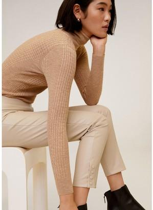 MANGO Faux Leather Basic Skinny Trouser - Light Pink